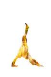 Woman doing yoga double exposure Royalty Free Stock Photo