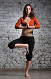 Woman doing yoga excercise Royalty Free Stock Photography