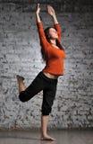 Woman doing yoga excercise Stock Photo