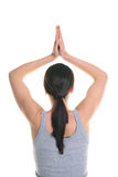 Woman doing yoga exercise. Stock Photo
