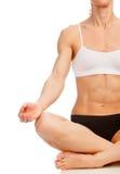 Woman doing yoga exercise Stock Photography