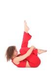 Woman doing yoga exercise Royalty Free Stock Image