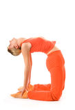 Woman doing yoga exercise Royalty Free Stock Photo