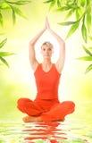 Woman doing yoga exercise Royalty Free Stock Photography