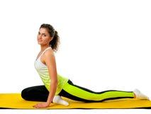 Woman doing yoga exercise Stock Image