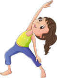 A woman doing yoga Stock Photos