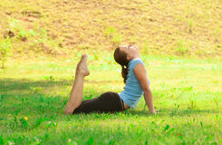 Woman doing yoga meditation Stock Image