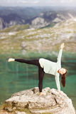 Woman doing yoga in nature Royalty Free Stock Photo
