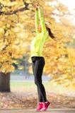 Woman doing yoga outdoors Royalty Free Stock Photos