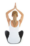 Woman doing yoga  over white background Royalty Free Stock Photo