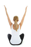 Woman doing yoga over white background Royalty Free Stock Photos