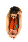 Woman doing yoga stretching Royalty Free Stock Images