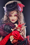 woman in doll style Stock Photos