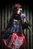 Woman in doll style. Creative make-up. Royalty Free Stock Photography