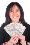 Woman and dollars 3 Stock Photography