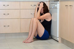 Woman domestic violence Royalty Free Stock Image