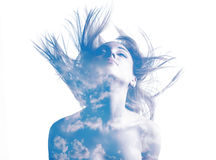 Woman double exposure Royalty Free Stock Image