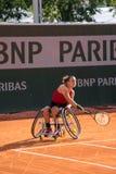 PARIS, FRANCE - JUNE 8, 2019: Roland Garros woman doubles wheel stock image
