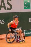 PARIS, FRANCE - JUNE 8, 2019: Roland Garros woman doubles wheel royalty free stock images