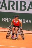 PARIS, FRANCE - JUNE 8, 2019: Roland Garros woman doubles wheel royalty free stock photo