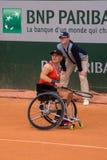 PARIS, FRANCE - JUNE 8, 2019: Roland Garros woman doubles wheel stock photography