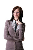 Woman in doubt Royalty Free Stock Photos