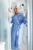 Woman in douche Stock Photos