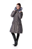 Woman In Down Jacket Stock Images
