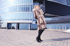 Woman in downtown. Royalty Free Stock Photos