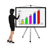 Woman drawing chart Stock Photo