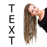 Woman with dreadlocks Stock Photo