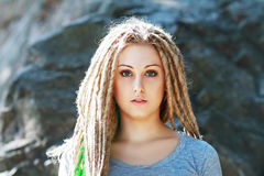 Woman with dreadlocks Royalty Free Stock Photography