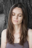 Woman dreaming Royalty Free Stock Images
