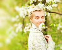 Woman dreaming outdoors Stock Photography
