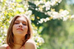 Woman dreaming Stock Photo