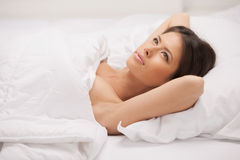 Woman dreaming. Stock Images
