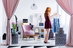 Dreamy dressing room stock images