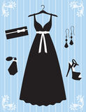 Woman Dress and Accessories. Illustration of woman dress and accessories Stock Images