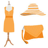 Woman dress and accessories Royalty Free Stock Images