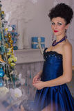 Woman in dress Baroque Royalty Free Stock Images