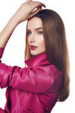Woman dress coat sexy fashion style catalog Royalty Free Stock Images