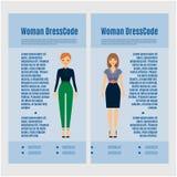 Woman Dress Code brochure design Stock Image