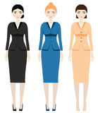 Woman dress code. Female in business outfit, office clothes Royalty Free Stock Photos