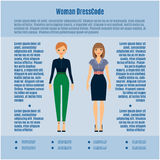 Woman Dress Code infographic Royalty Free Stock Photo