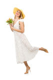 Woman in dress in fashion dress isolated Royalty Free Stock Image
