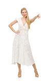 Woman in dress in fashion dress isolated Stock Image