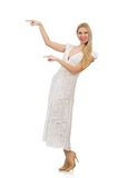 Woman in dress in fashion dress Royalty Free Stock Photo