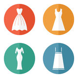 Woman dress icons Royalty Free Stock Photo