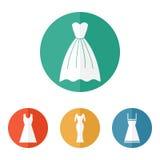 Woman dress icons. Elegant female dress vector Royalty Free Stock Image