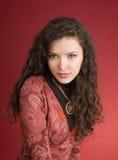 Woman in dress portrait Stock Photo